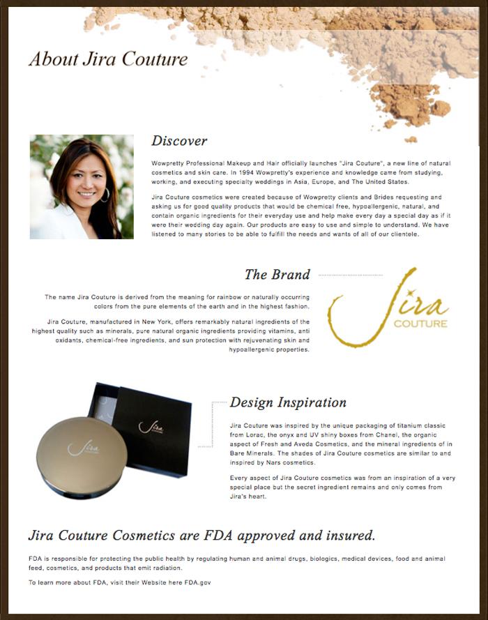 Cosmetics, Jira Couture Cosmetics, natural cosmetics, mineral cosmetics