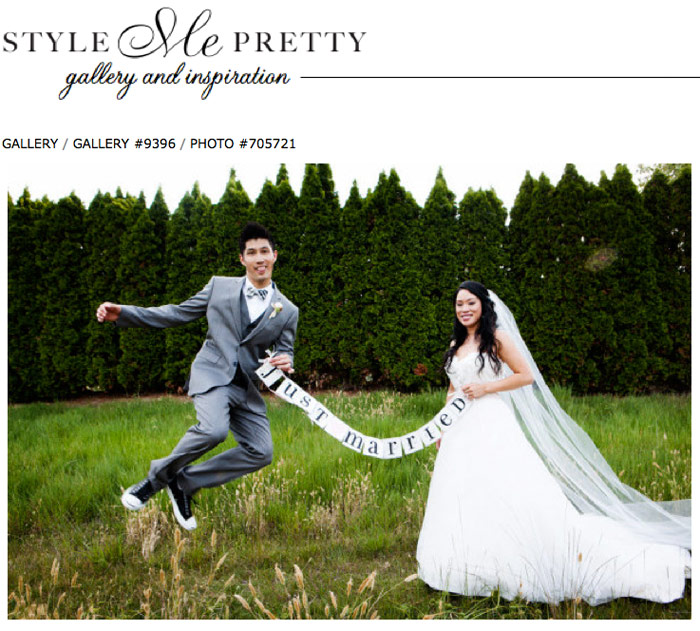 style me pretty wedding photo