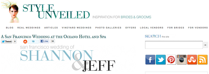 wedding unveiled at the Oceano Hotel Half Moon bay