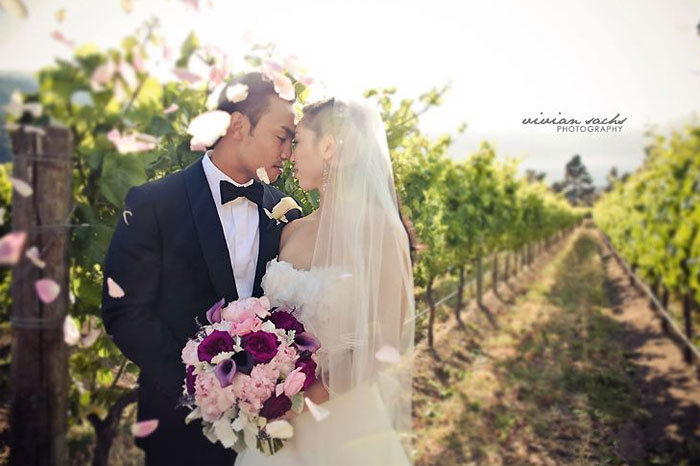 bernardus lodge carmel valley wedding photo