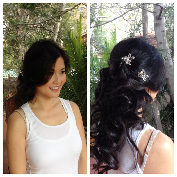 wedding hair updo by wowpretty.com