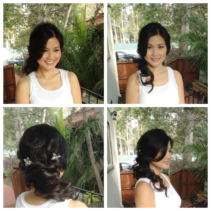 half up do hair wedding by wowpretty.com