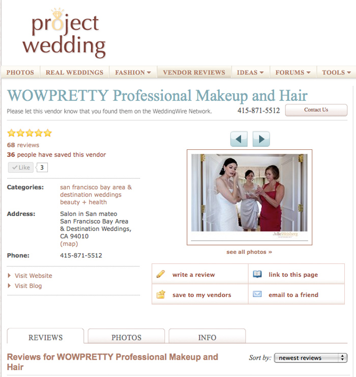 projectwedding makeup hair sf
