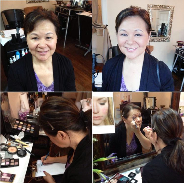 mother asian makeup