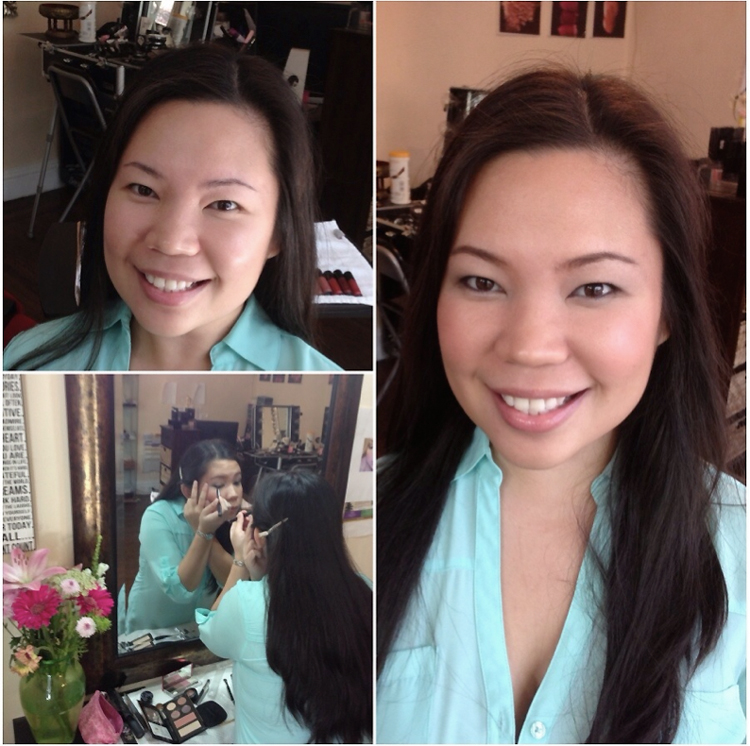 fair skin makeover before and after