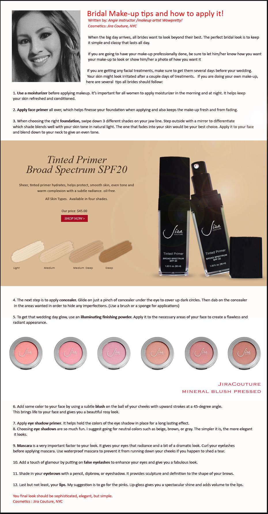 Bridal Make-up tips