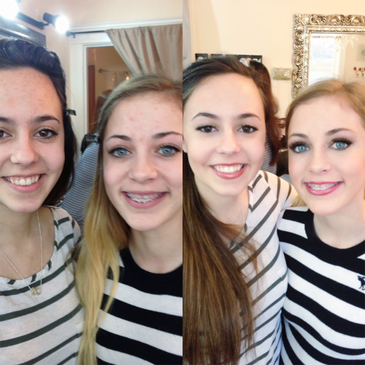 sister makeup lesson