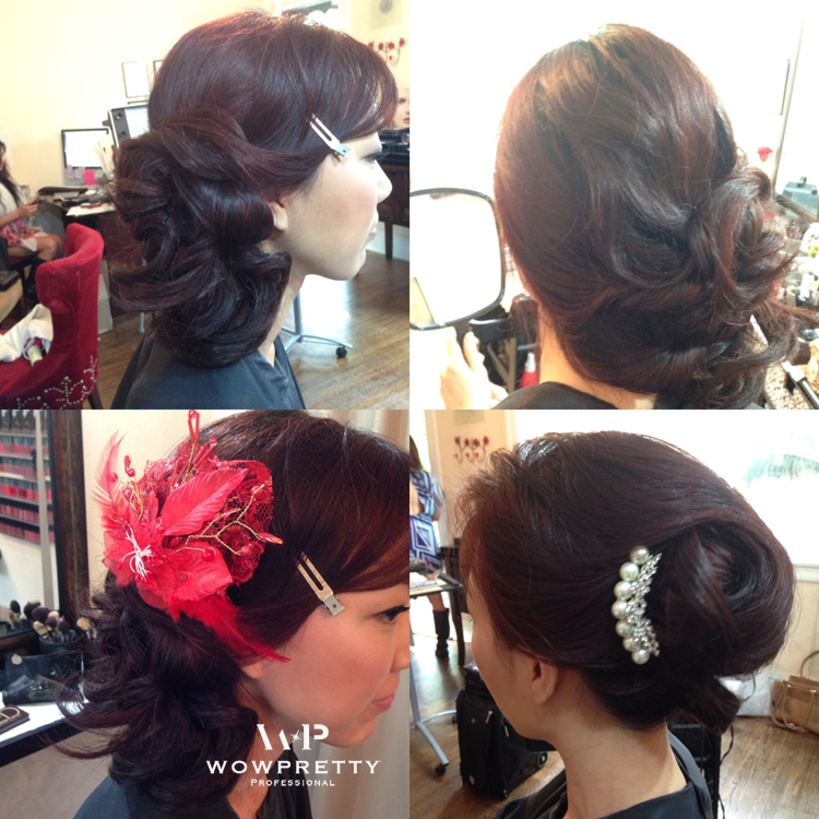 Wedding trial  hair