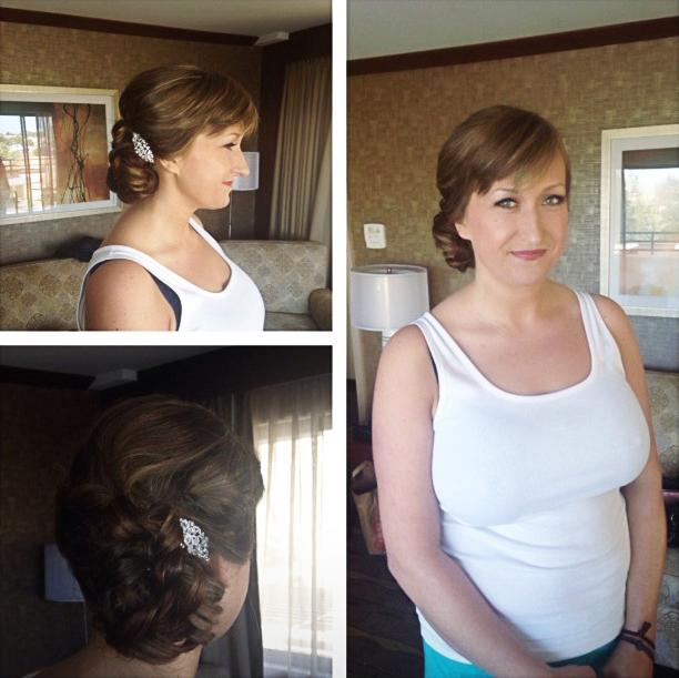 Summer bride makeup hair