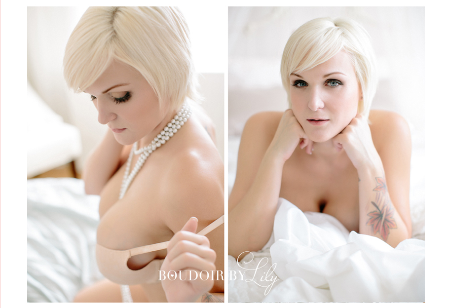 boudoir shoot hair makeup