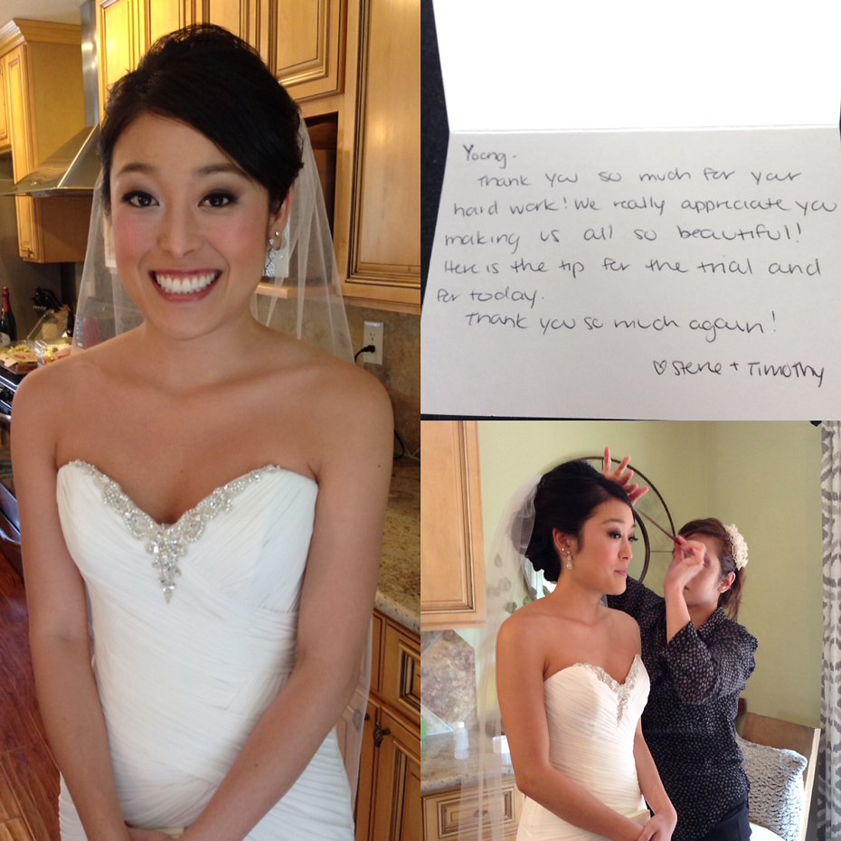 Japanese San Francisco Makeup Hair Bridal Wedding
