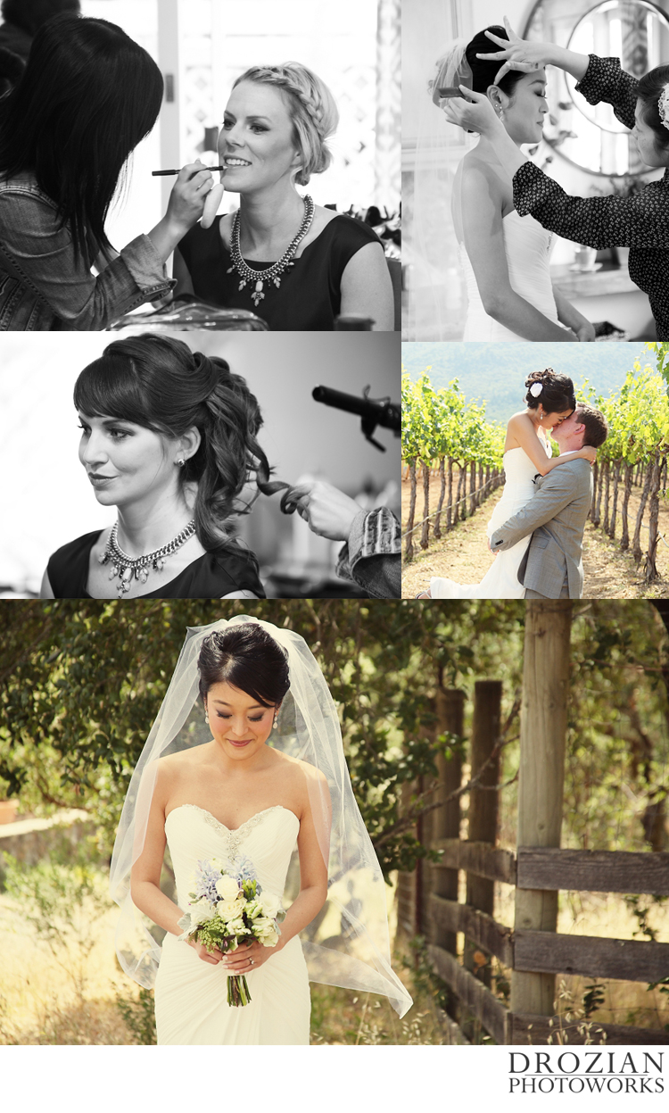 Sonoma wedding makeup location