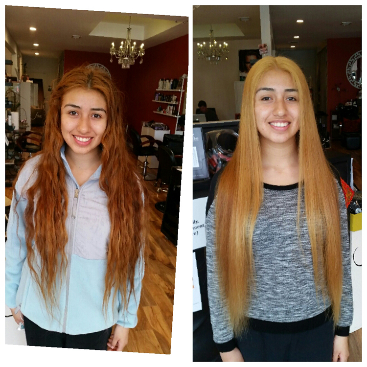 before and after haircolor