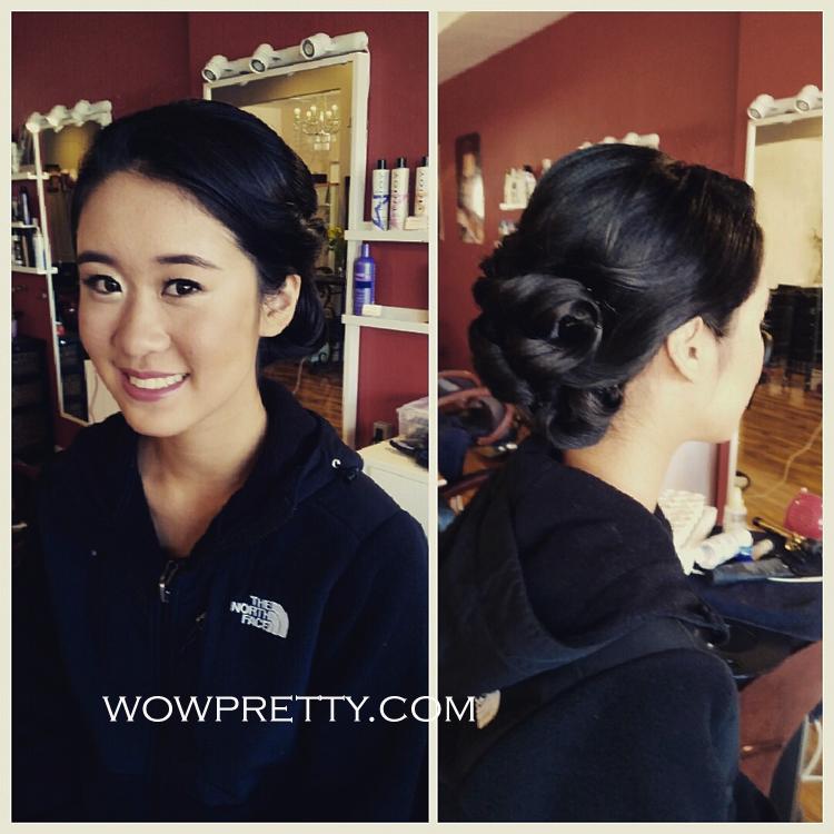 prom makeup hair