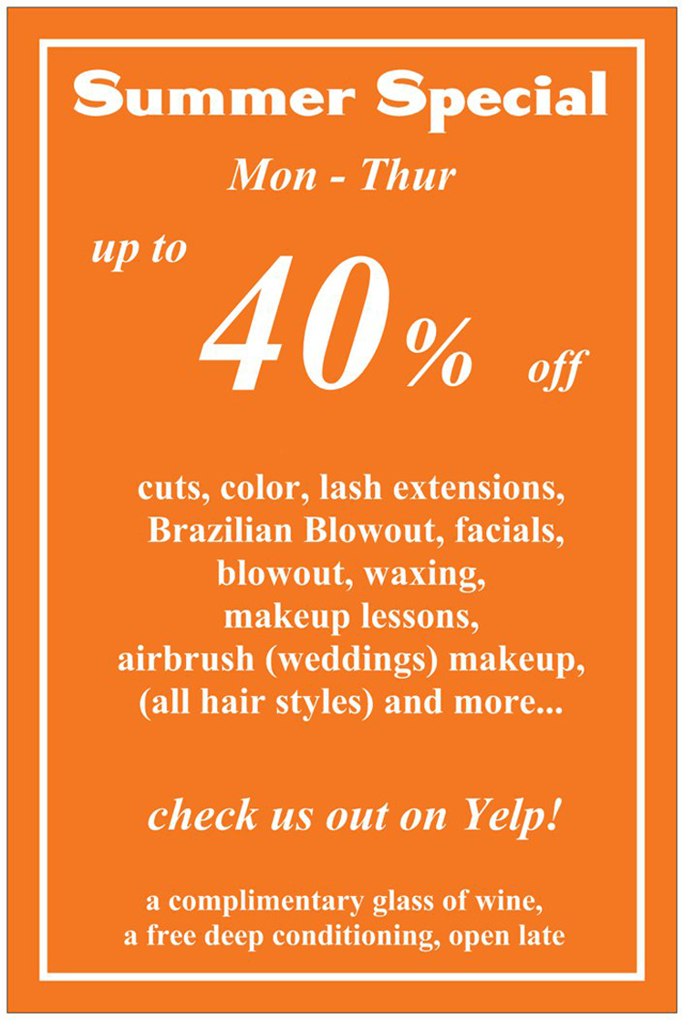 salon summer deals