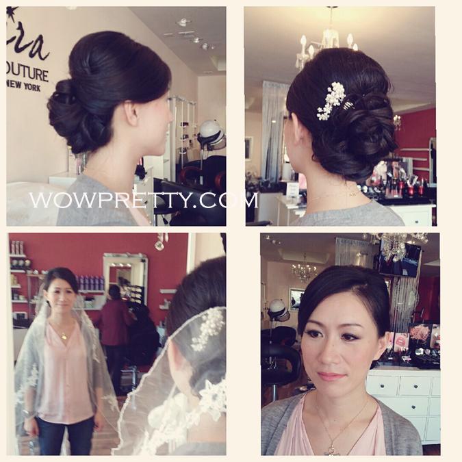 Trial Wedding Airbrush Makeup and Hair at Jira Couture Salon, Burlingame